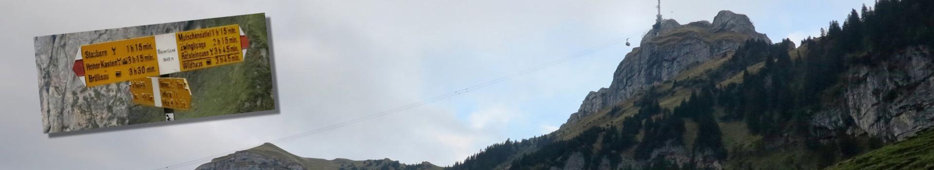Hoher Kasten – ein Nebeltag im Alpstein im September 2015