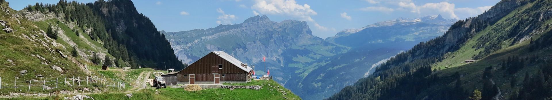 Von Stoos über den Wannentritt nach Riemenstalden und Sisikon (SZ/UR) im August 2015